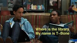 Ahmed y T-Bone rapeando La Biblioteca