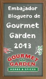 Embajador bloguero de Gourmet Garden 2013