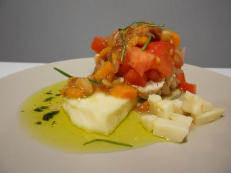 solomillo de pavo con queso y membrillo