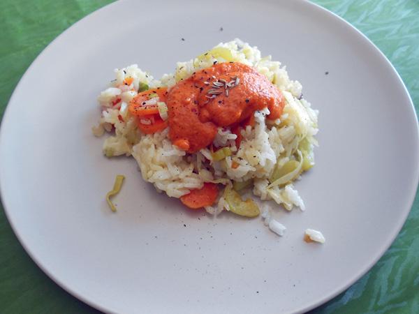 arroz con romesco