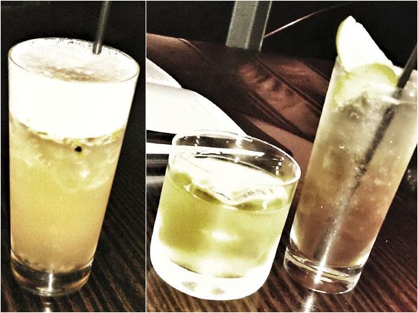 'Exotic iced tea', 'Smokin' box' y 'Spanish lime soda'