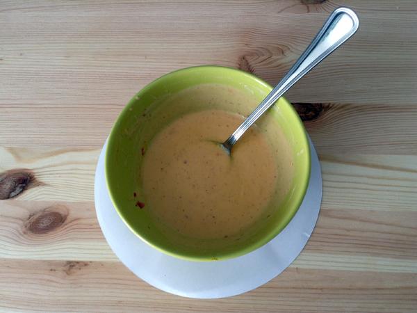 salsa de yogur y chile