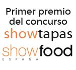 Primer premio del concurso ShowTapas dentro de la feria gourmet ShowFood 2013