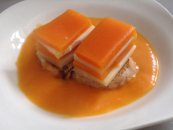 Calabaza en su crema con queso de Hinojosa
