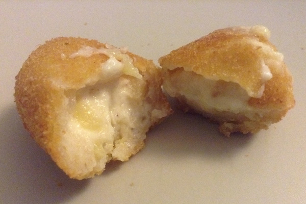 croquetas de pera y queso de hinojosa