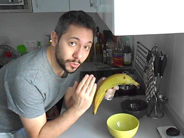 captura de la vídeo receta de lentejas con plátano frito