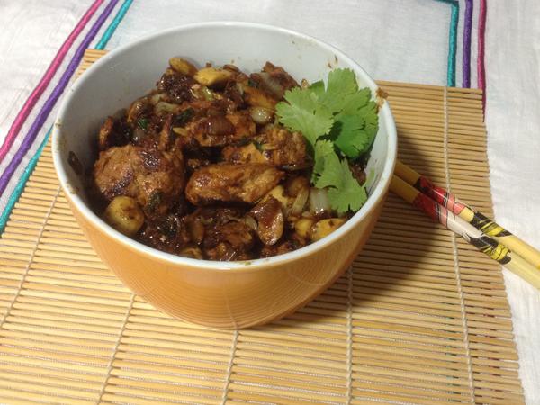 Pollo especiado al estilo oriental