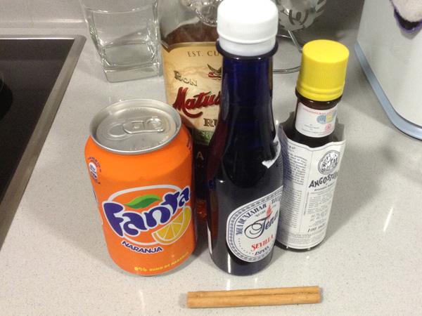 ingredientes para el cóctel