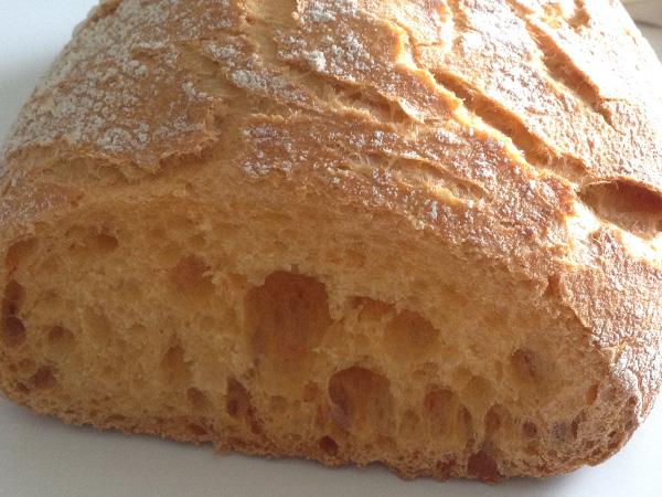pan de crema de pimientos rojos
