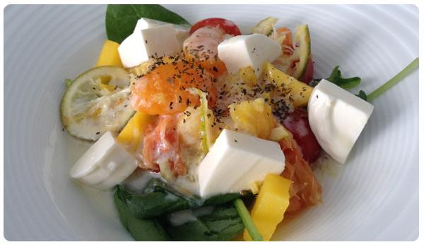 menestra de cítricos o ensalada cítrica templada