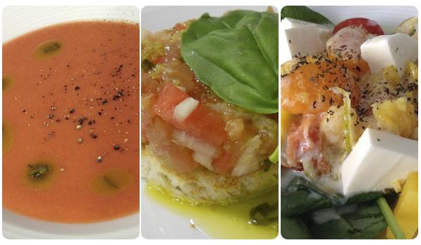 tres platos refrescantes para verano