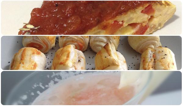 tres propuestas de platos para comer durante partidos del mundial