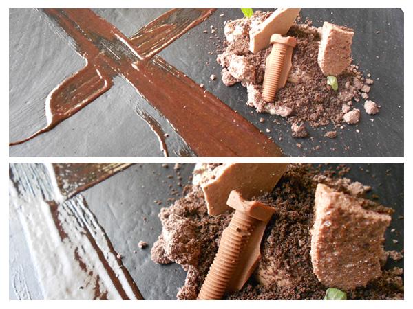 postre de chocolate en Víctor Gutiérrez