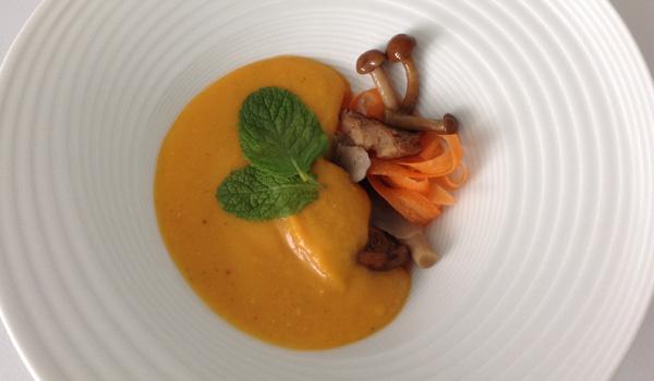 Crema de zapallo, boniato y zanahoria