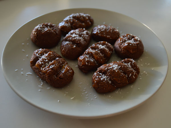mazapán de chocolate y hierbalimón