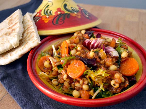 Ensalada turca de cebada y lentejas